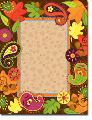 Paper So Pretty - Blank Designer Papers (Autumn Paisleys)