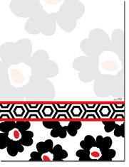 Paper So Pretty - Blank Designer Papers (Black and White Garden) (DP1182)