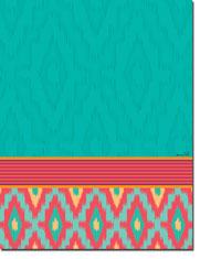 Paper So Pretty - Blank Designer Papers (Aqua Ikat) (DP1188)