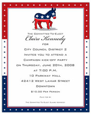 Paper So Pretty - Blank Designer Papers (Democrat Party)
