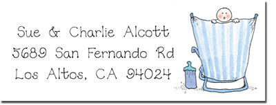 Blue Mug Designs Return Address Labels - Boy On The Beach