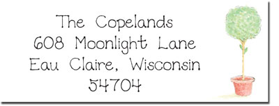 Blue Mug Designs Return Address Labels - Topiary