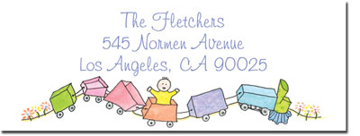 Blue Mug Designs Return Address Labels - Toy Train