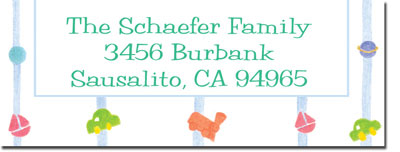 Blue Mug Designs Return Address Labels - Toys And Stripes