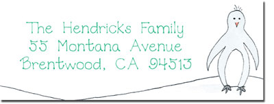 Blue Mug Designs Return Address Labels - Penguin Family