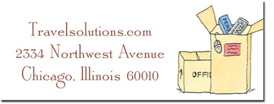 Blue Mug Designs Return Address Labels - Moving Boxes