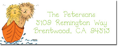 Blue Mug Designs Return Address Labels - Two-By-Two