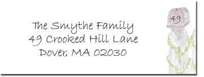 Blue Mug Designs Return Address Labels - New Picket Fence