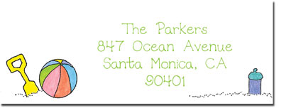 Blue Mug Designs Return Address Labels - Brother At The Beach