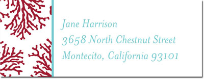 Boatman Geller - Create-Your-Own Address Labels (Coral)