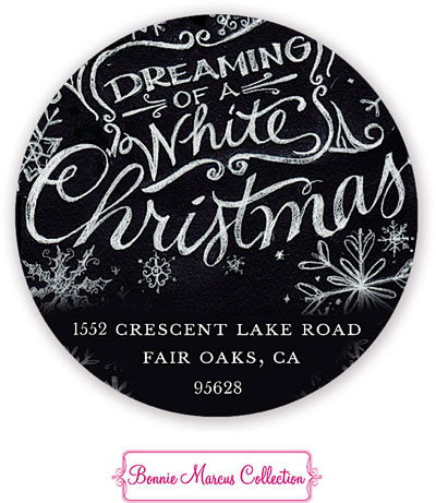 Bonnie Marcus Personalized Return Address Labels - Dreaming Of White Christmas (DOWRSTH)
