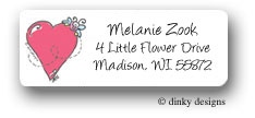 Dinky Designs Address Labels - Happy hearts (RASH-005H)