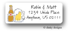 Dinky Designs Address Labels - Bottle Of Beer