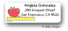 Dinky Designs Address Labels - Apple rules (RAV-026A)
