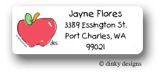 Dinky Designs Address Labels - A is for apple (RAV-037A)