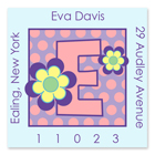 Name Doodles - Square Address Labels (Dotty Flower) (106A-S21)