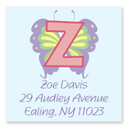 Name Doodles - Square Address Labels (Pastel Butterfly) (111B-S21)