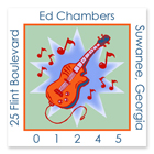 Name Doodles - Square Address Labels (Jazzy Guitar) (GDMQ-S14)