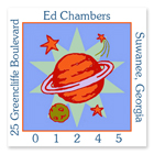 Name Doodles - Square Address Labels (Cosmic Galaxy) (GDTN-S14)