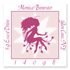 Name Doodles - Square Address Labels (Fairy Moon) (GSWP-S12)