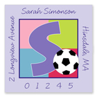Name Doodles - Square Address Labels (Sporty Soccer Lilac) (SCRA-S13A)