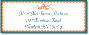 Name Doodles - Rectangle Address Labels/Stickers (Chelsea Orange)