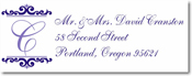 Name Doodles - Rectangle Address Labels/Stickers (Westbrook Iris)