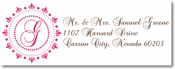 Name Doodles - Rectangle Address Labels/Stickers (Woodbury Hot Pink)