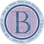 Name Doodles - Round Address Labels/Stickers (Architect Blue)
