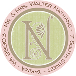 Name Doodles - Round Address Labels/Stickers (Deco Pink)
