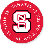 Noteworthy Collections College Address Labels - Red Block S (North Carolina State University) (CQ-NCS01)