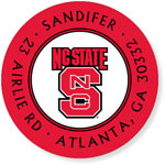 Noteworthy Collections College Address Labels - Red (North Carolina State University) (CQ-NCS06)