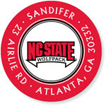 Noteworthy Collections College Address Labels - Wolfpack Red (North Carolina State University) (CQ-NCS08)