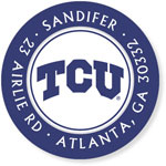 Noteworthy Collections College Address Labels - TCU Purple (Texas Christian University) (CQ-TCU01)