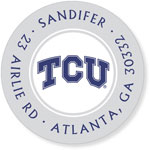 Noteworthy Collections College Address Labels - TCU Silver (Texas Christian University) (CQ-TCU02)