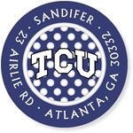 Noteworthy Collections College Address Labels - TCU Polka Dot (Texas Christian University) (CQ-TCU03)