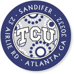 Noteworthy Collections College Address Labels - TCU Circle Burst (Texas Christian University) (CQ-TCU05)