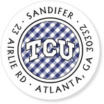 Noteworthy Collections College Address Labels - TCU Gingham (Texas Christian University) (CQ-TCU06)