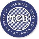 Noteworthy Collections College Address Labels - TCU Gingham & Purple (Texas Christian University) (CQ-TCU07)