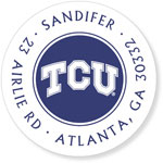 Noteworthy Collections College Address Labels - TCU White (Texas Christian University) (CQ-TCU08)