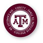 Noteworthy Collections College Address Labels - Texas A&M Maroon Label (Texas A&M University) (CQ-TAM01)