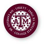 Noteworthy Collections College Address Labels - Polka Dot Maroon Label (Texas A&M University) (CQ-TAM03)