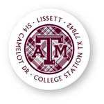 Noteworthy Collections College Address Labels - Plaid Label (Texas A&M University) (CQ-TAM04)