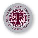 Noteworthy Collections College Address Labels - Circle Burst Label (Texas A&M University) (CQ-TAM05)
