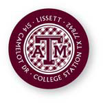 Noteworthy Collections College Address Labels - Gingham Label (Texas A&M University) (CQ-TAM06)