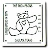Rytex Square Address Label - Bear with Heart