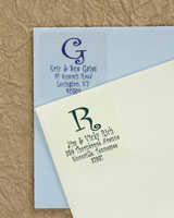 Rytex - Curly Initial Address Labels (Square)