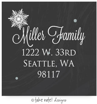Take Note Designs - Address Labels (Chalkboard and Snow) (TND-L-38118)