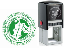 More Than Paper - Custom Self-Inking Stamps (Holly Season's Greetings)