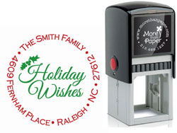 More Than Paper - Custom Self-Inking Stamps (Holiday Wishes)